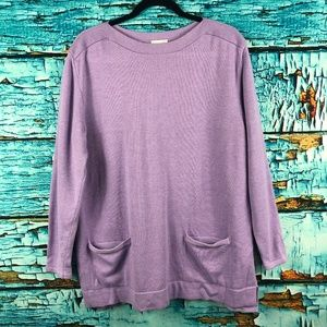 J. Jill Sweaters - J Jill Pullover Long Sleeve Merino Wool Sweater